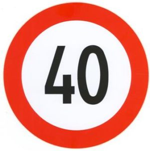 Autocollant 40km/h